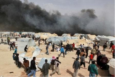 Влагере сирийских беженцев …