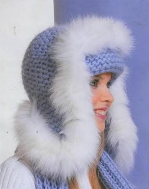 Стильная шапка - ушанка с ме…