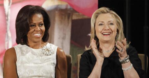Первая леди поддержала Клинт…
