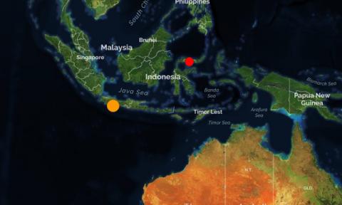 Индонезия. Землетрясение магнитудой 6.7