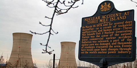 Крупнейшая в мире авария на атомной станции Три-Майл-Айленд, США, 28 марта 1979 года