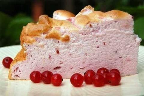 """Торт-суфле """"Розовое облако"""""""