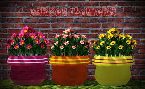 Garden Flowers by Juliana