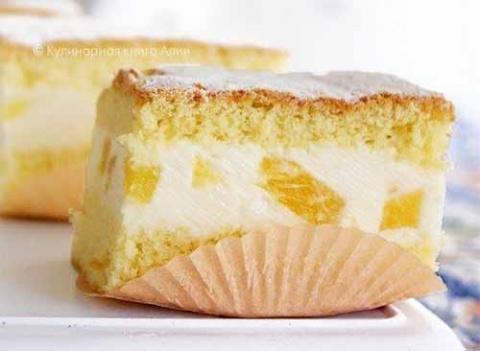 Торт с нежным творожным суфле
