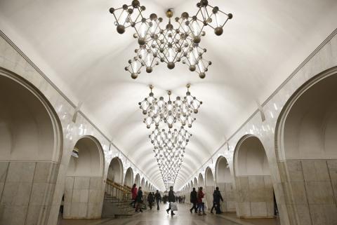 Прогулка по станциям Московского метрополитена