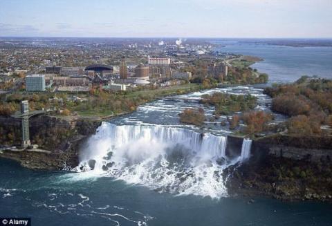 Как американцы  ремонтировали Ниагарский водопад
