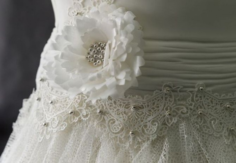 Это шикарное свадебное плать…