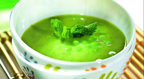 ДЕНЬ ПЕРВОГО БЛЮДА. Суп-пюре из зеленого горошка с мятой