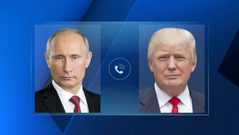 Телефонный разговор с Президентом США Дональдом Трампом и Президентом Казахстана Нурсултаном Назарбаевым