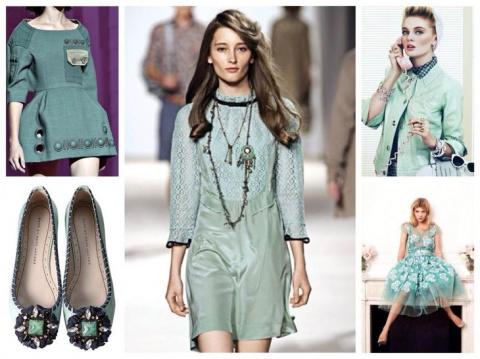 Одежда и обувь цвета мяты: с чем сочетать?