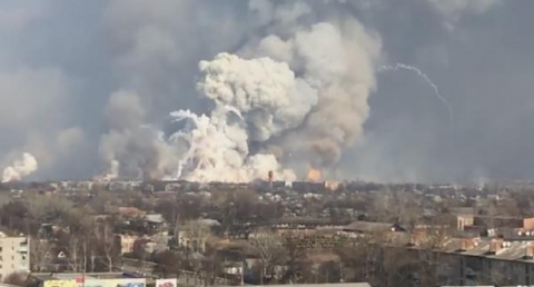 Украина, Балаклея: взрывы на…
