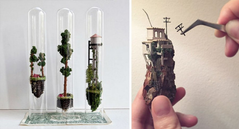 Парящие миниатюрные миры