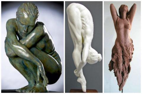 Красота женского тела в современном искусстве скульптуры