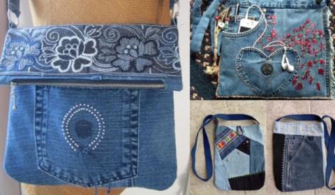 Сумки из старых джинсов. 122…