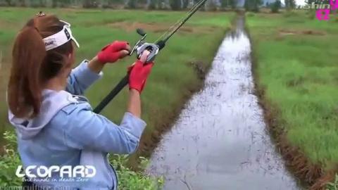 Мастер класс от Вьетнамки! Ловля рыбы на спиннинг.