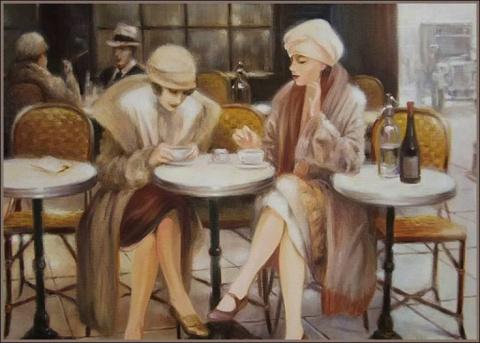 Две женщины сидели за столом, И возле каждой по свече горело...