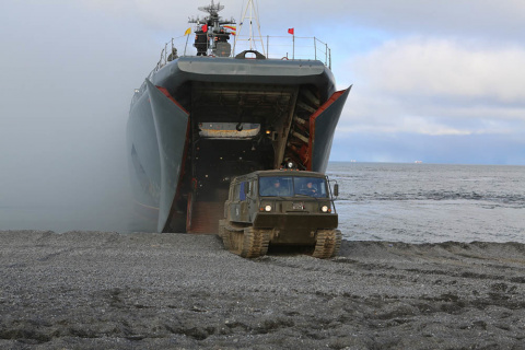 Морской десант впервые высад…