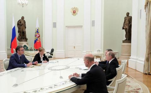 Премьер Сербии рассказал о чем говорил с Путиным в Москве