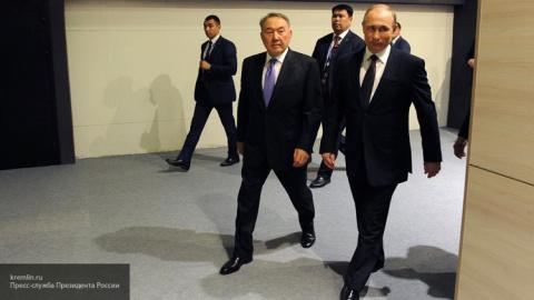 Президенты России и Казахста…