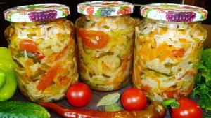 """Овощной салат на зиму """"Кубан…"""