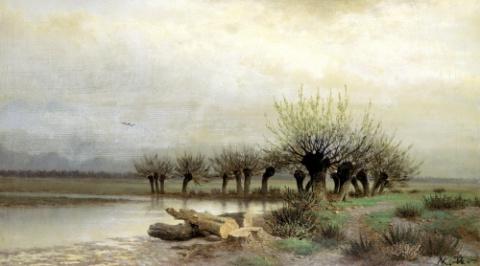 Русский художник Каменев Лев Львович (1831-1886)