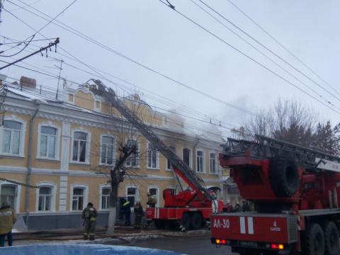 На Московской горел двухэтажный дом