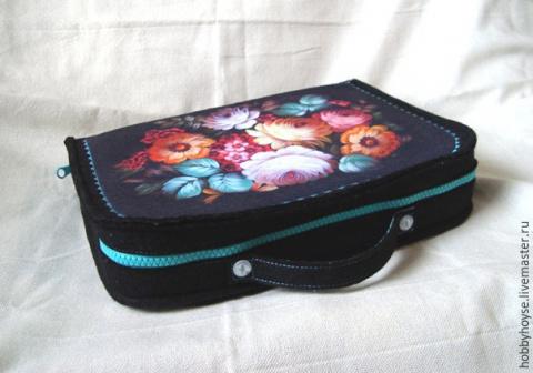 МК — шьём чемоданчик-органайзер для рукодельницы
