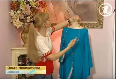 Крой и шитье платья за полчаса
