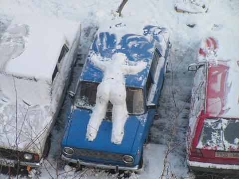 Зимний автоюмор