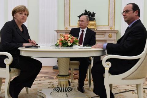Трехсторонняя встреча Путина…