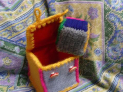 шкатулочка для девичих секретов из детского кубика