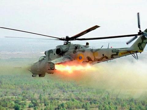 Ополченцы подбили вертолёт у…