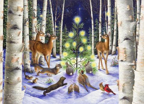 Вся в огнях сияет ёлка… Новогодние иллюстрации Lynn Bywaters