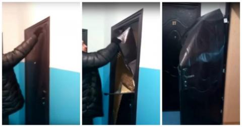 Забыли ключи дома? Не проблема! Дверь из фольги в новостройке Казахстана