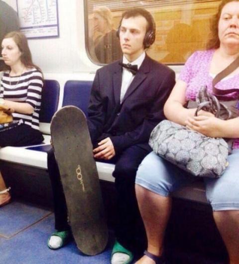 Модники в питерском метро