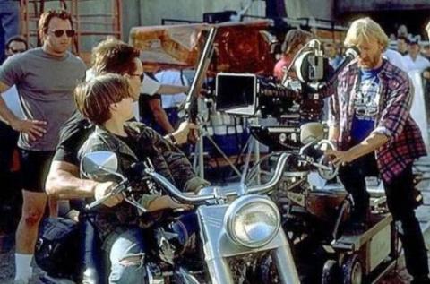 """Кадры со съёмочной площадки фильма """"Терминатор 2: Судный день"""""""