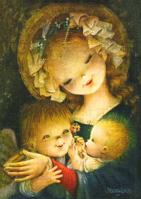 Божьей милостью от ангелков... Художник Joan Ferrandiz