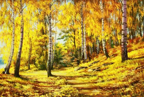 Осень в небо поднимается лег…