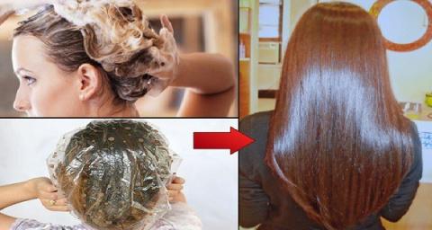 Нанести эту маску на волосы …