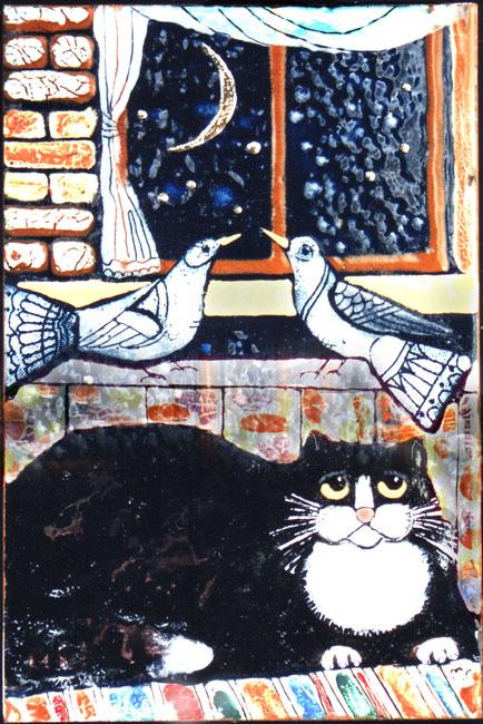 """КОШКИ. И там , и сям. И ещё 2 МК :""""Как сделать Финдуса""""( сухое валяние)и """"Мартовский"""" (кот из ваты)."""