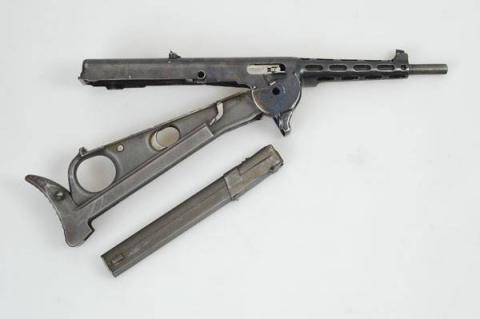 Пистолет-пулемет с продольны…
