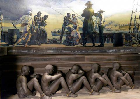 Как перевозили африканских рабов