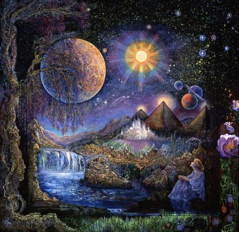 Картины Джозефин Уолл - Doorway stars