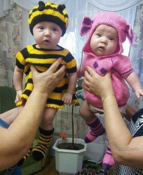 Как вам Пчелка и Лунтик?