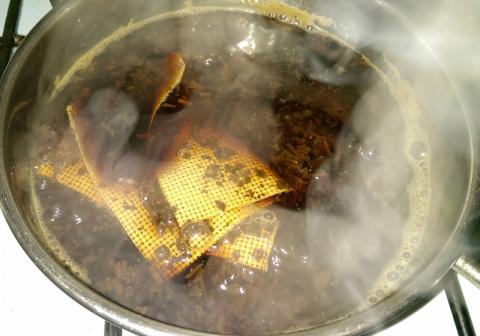 Окрас канвы чаем в домашних условиях