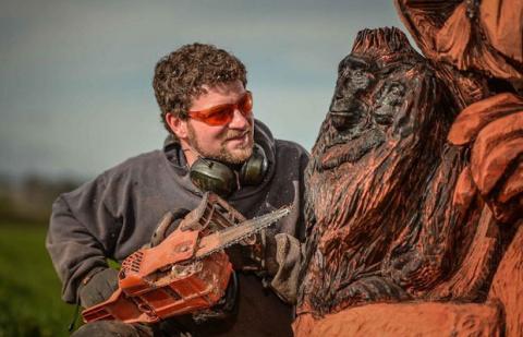 Невероятно красивые деревянные скульптуры — резьба бензопилой