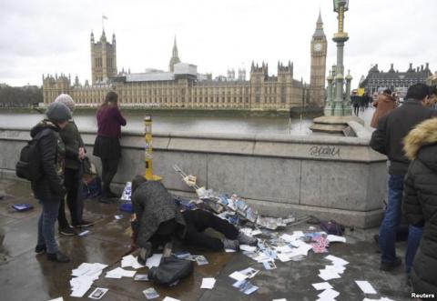 В центре Лондона произошел т…
