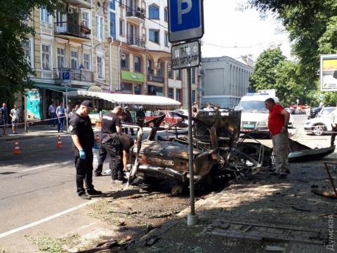Взрыв авто в центре Одессы р…