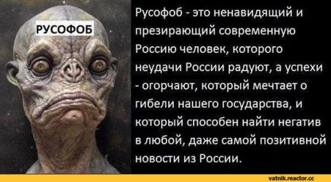 Современная русофобия родом из России