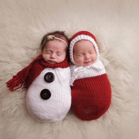 Малыши, которые готовы встретить свое первое Рождество